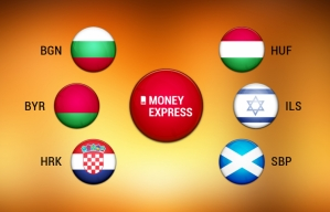 В пунктах обмена валют Money Express - новые валюты